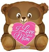 """18"""" Love You Mom Bear Shape"""