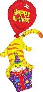 "45"" Happy Birthday Cat Stacker"