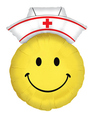 "28"" Smiley Nurse Shape Mylar Balloon"