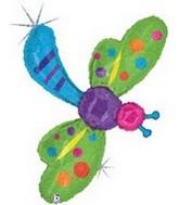 """50"""" Holographic Garden Dragonfly Balloon"""