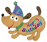 "42"" Happy Birthday Puppy Balloon"