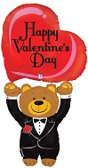"""54"""" Valentine Bear Special Delivery"""