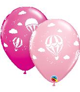 """11"""" Hot Air Balloons (50 Per Bag) Latex Balloons"""