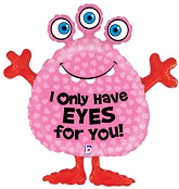 """34"""" Monster Eyes For You Balloon"""