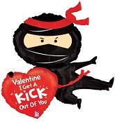 """38"""" Valentine Ninja Balloon"""