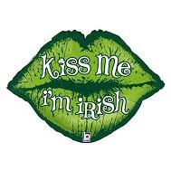 """30"""" Kiss Me I'm Irish Lips"""
