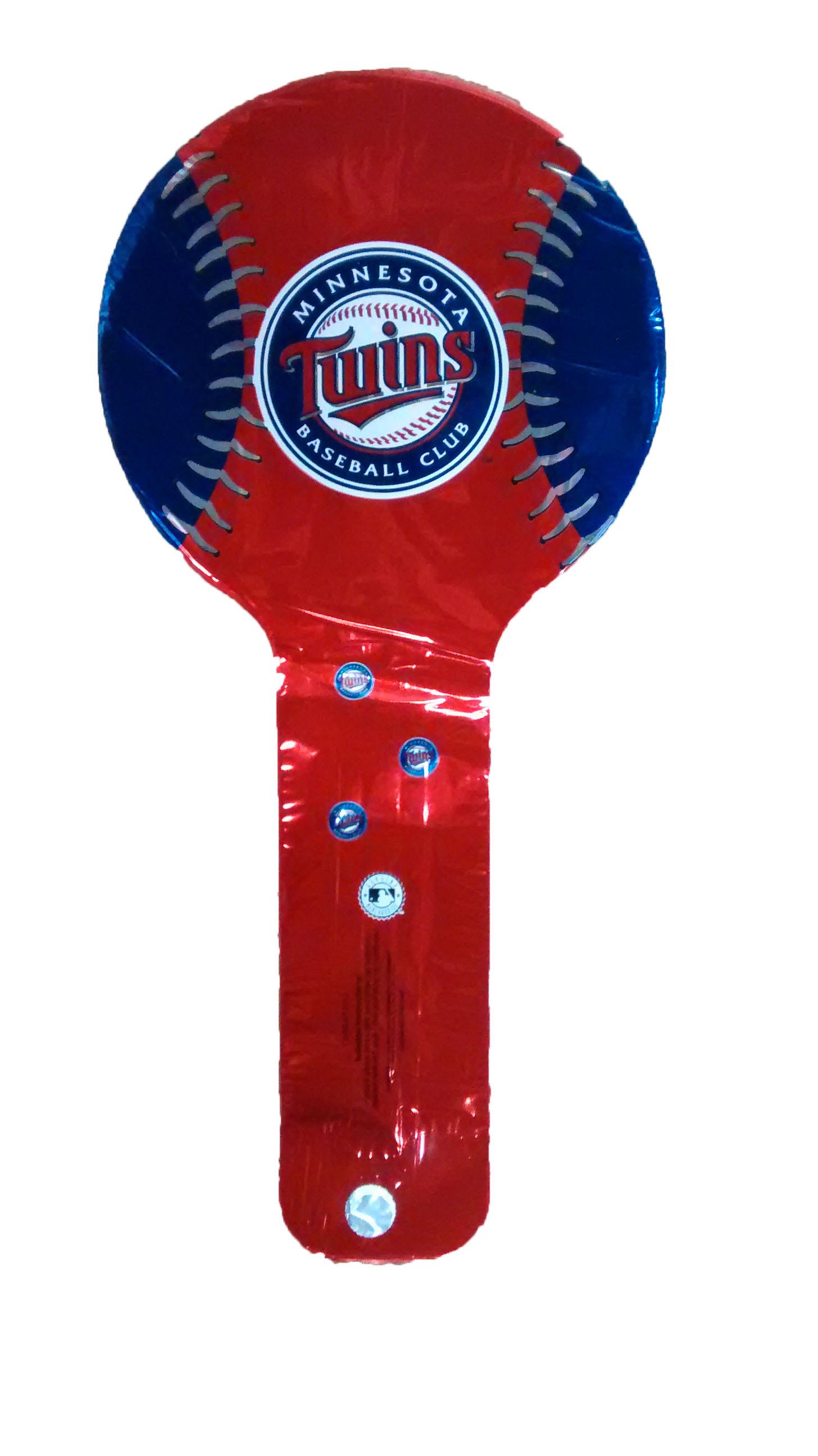 """9"""" Air Filled Hammer Balloon Minnesota Twins Baseball"""