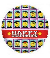 """18"""" Smiley Grad Class Balloon"""