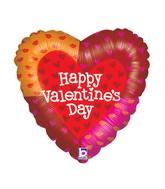 "18"" Quad Hearts Happy Valentine's Day"