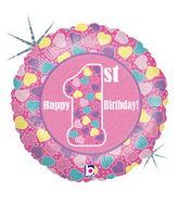 "18"" First Birthday Girl Balloon"