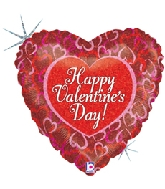 "18"" Linking Hearts Happy Valentine's Day"