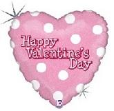 """18"""" Valentine's Day White Dots"""