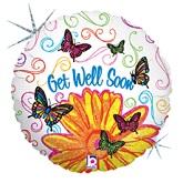 """18"""" Pop Art Butterfly Get Well"""