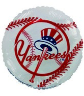 "9""  Airfill New York Yankees Baseball Balloon"