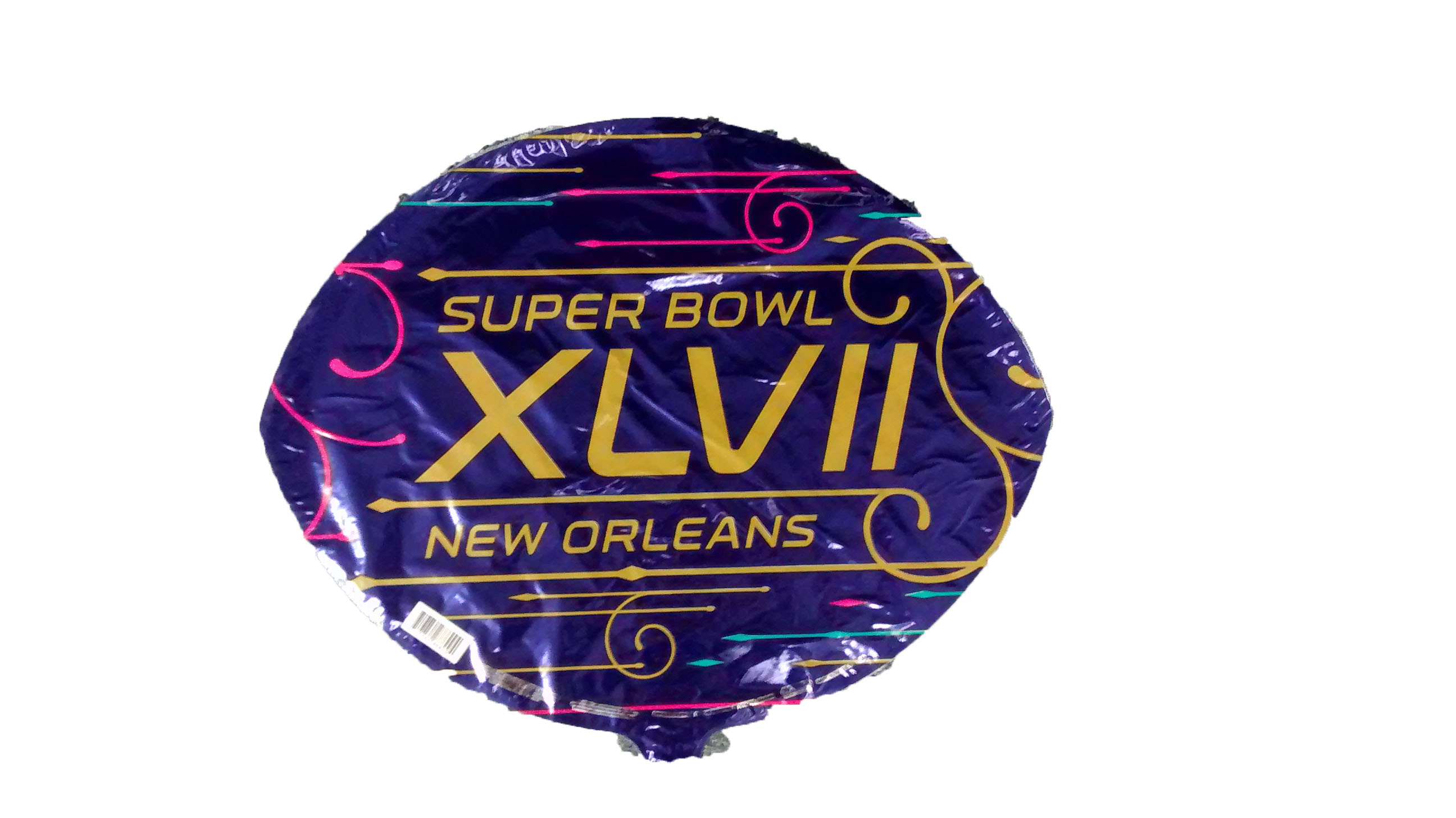 "18"" Super Bowl XLVII New Orleans Purple Balloon"