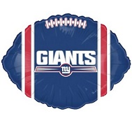 """9"""" Airfill Only NFL Balloon New York Giants"""