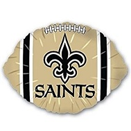 "9"" Airfill NFL New New Orleans Saints Football Balloon"