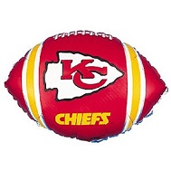 "9"" Airfill Only NFL Balloon Kansas City Chiefs"