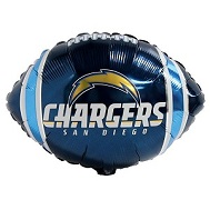 """9"""" Airfill Only NFL Balloon San Diego Chargers"""