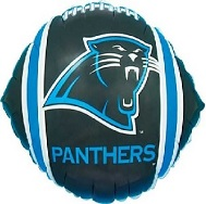 """9"""" Airfill Only NFL Balloon Carolina Panthers"""