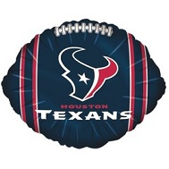 "9"" Airfill Only NFL Balloon Houston Texans"