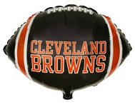 """9"""" Airfill Only NFL Balloon Cleveland Browns"""