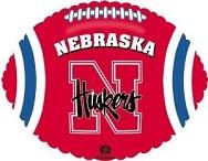 "18"" Collegiate Football Nebraska Huskers"
