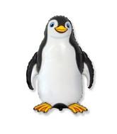 """24"""" Black Happy Penguin Shaped Balloon"""