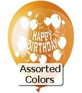 "12"" Assorted ""Happy Birthday"" Latex 6 CT"