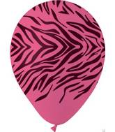 "12"" Zebra Print Rose Latex  Balloons (50 pack)"