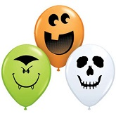 "5"" Halloween Faces Balloons"