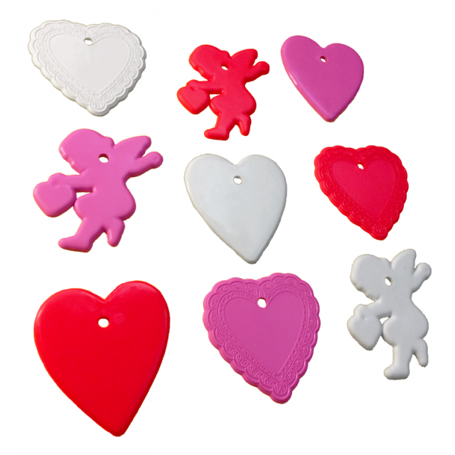 8-10 Gram Valentine's Day Shape 100 Count