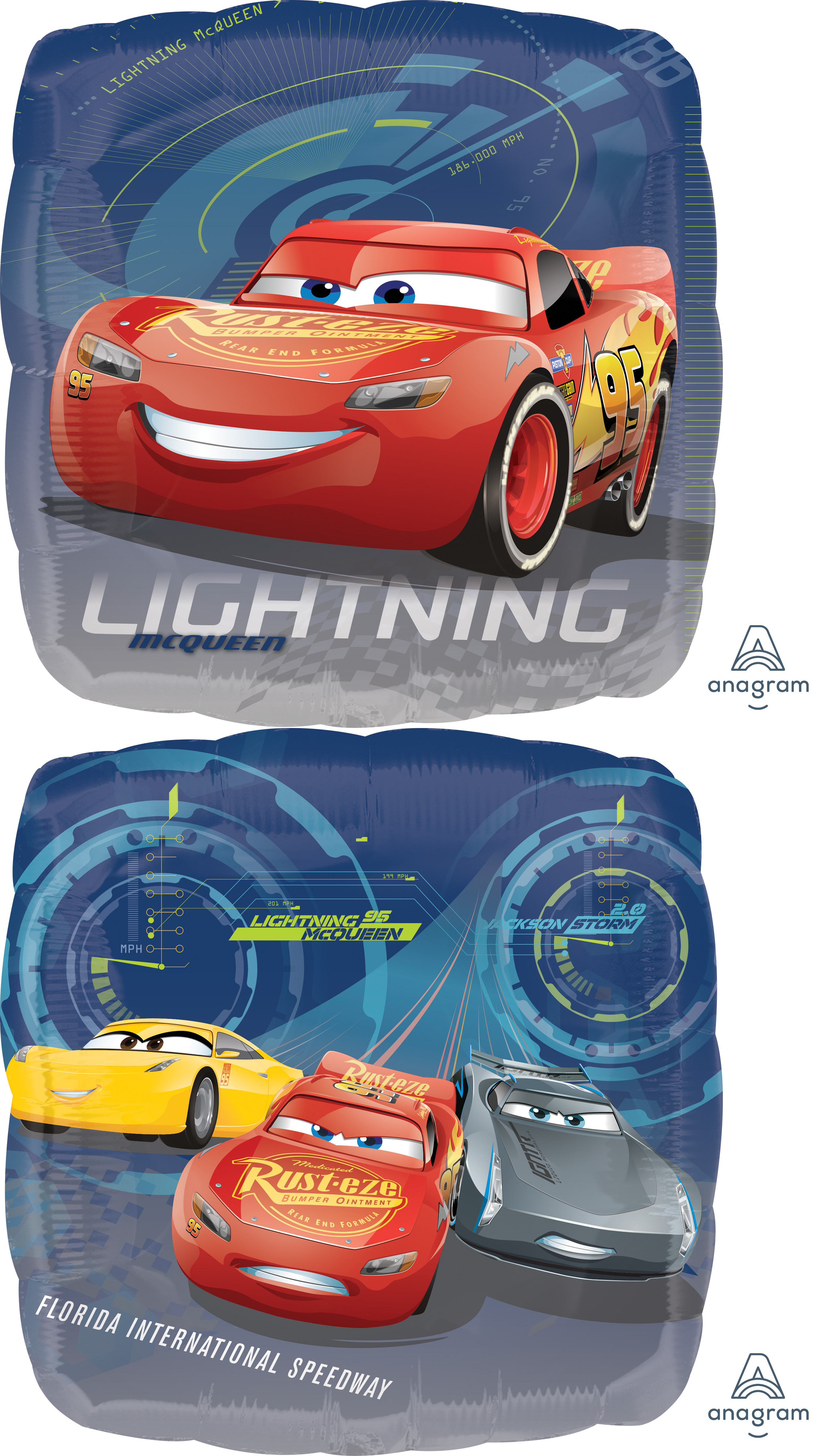 "18"" Cars Lightning Balloon"