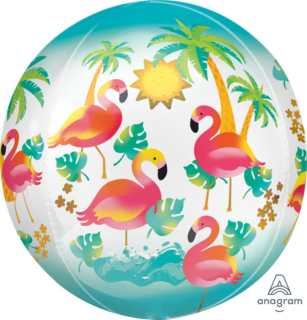 "16"" Orbz Let's Flamingle Floating Flamingo Balloon"