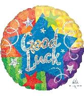 """28"""" Jumbo Good Luck Confetti Streamers Balloon"""
