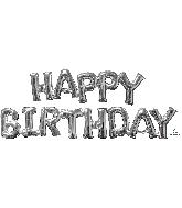 "Airfill Phrase ""HAPPY BIRTHDAY"" Silver Balloon"