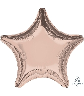 "18"" Rose Gold Decorator Balloon Star"
