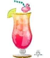 "41"" Let's Flamingle Tropical Drink (Flamingo)"