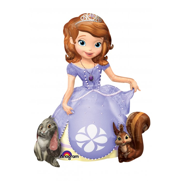 "48"" Sofia The First Jumbo Airwalker Balloon"