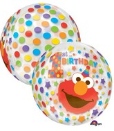 """16"""" Jumbo Sesame Street 1st Birthday Orbz Balloon"""