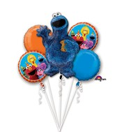 Bouquet Cookie Monster Balloon