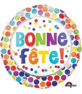"""18"""" Bonne Fete Dots Balloon"""