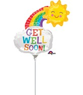 Airfill Only Get Well Rainbow Balloon