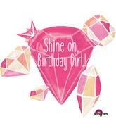 "30"" Jumbo Shine On Birthday Girl Balloon"