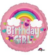 """18"""" Birthday Girl Rainbow Fun Balloon"""