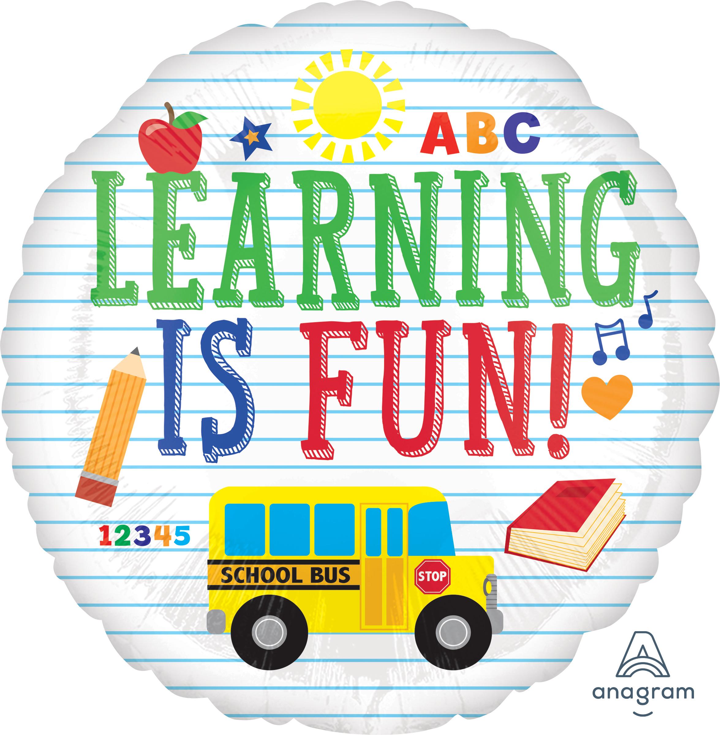 """18"""" Learning Is Fun Balloon"""