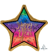 "28"" Jumbo Colorful New Year Balloon"