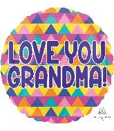 "18"" Grandma Triangle Pattern Balloon"