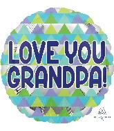 "18"" Grandpa Triangle Pattern Balloon"