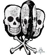 """31"""" Jumbo Skull Bones Balloon"""